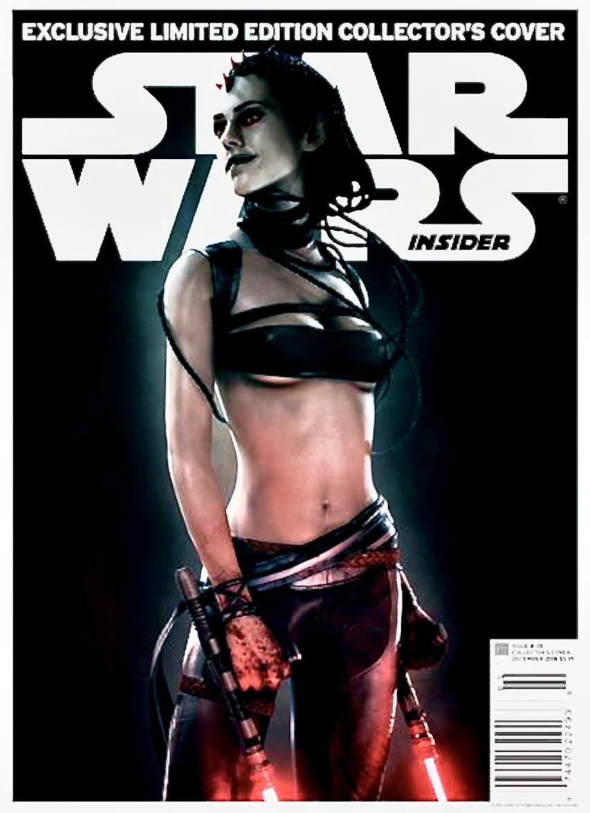 Adrienne Wilkinson as Maris Brood featured on the cover of Star Wars Insider.