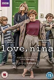 Helena Bonham Carter, Faye Marsay, Ethan Rouse, and Harry Webster in Love, Nina (2016)