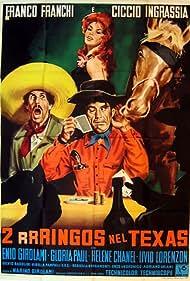 Franco Franchi, Ciccio Ingrassia, and Gloria Paul in Due rrringos nel Texas (1967)
