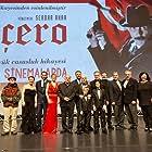 Serdar Akar, Çigdem Selisik Onat, Levent Ülgen, Mehmet Ulay, Mehmet Ezel Özgün, Cem Kurtoglu, Ertan Saban, Erdal Besikçioglu, Mustafa Uslu, Mehmet Esen, Murat Garibagaoglu, Tamer Levent, Selen Öztürk, Burcu Biricik, and Aylin Kiliçarslan at an event for Çiçero (2019)