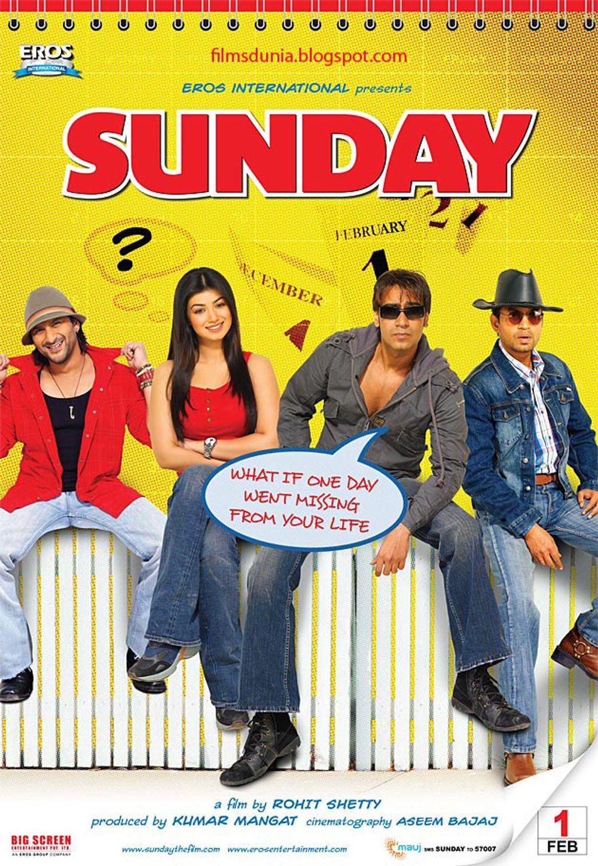 Ajay Devgn, Arshad Warsi, Irrfan Khan, and Ayesha Takia in Sunday (2008)