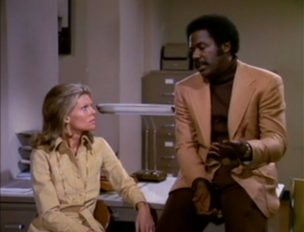 Cathy Lee Crosby and Richard Roundtree in Shaft (1973)