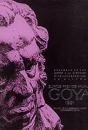 V premios Goya Poster
