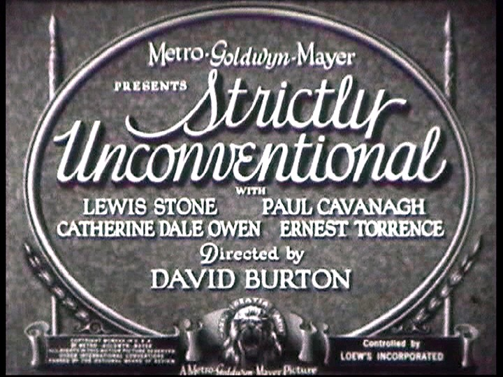 Strictly Unconventional (1930)