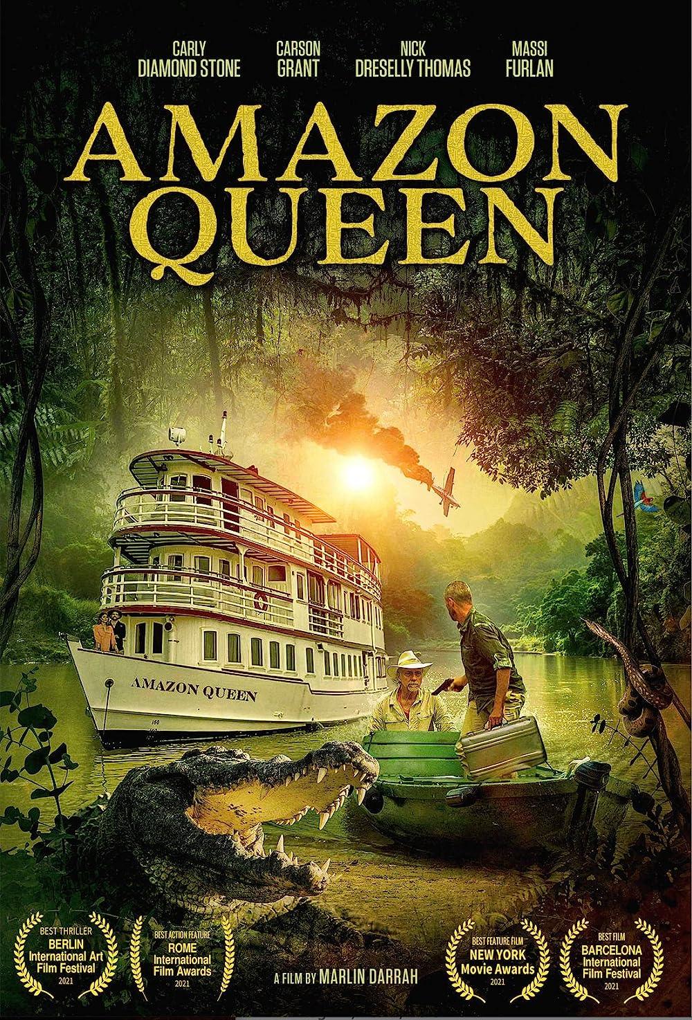 Download Amazon Queen 2021 English Movie 480p AMZN HDRip ESub 300MB