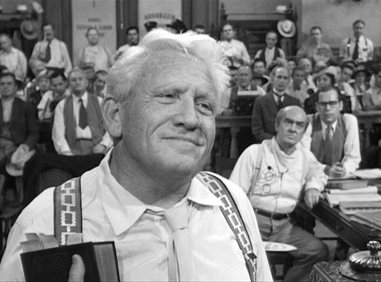 Spencer Tracy, Noah Beery Jr., Philip Coolidge, Florence Eldridge, Fredric March, and Elliott Reid in Inherit the Wind (1960)