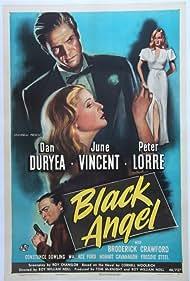 Peter Lorre, Dan Duryea, and June Vincent in Black Angel (1946)