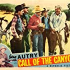 Gene Autry, Bob Burns, Budd Buster, Thurston Hall, Eddy Waller, and Champion in Call of the Canyon (1942)