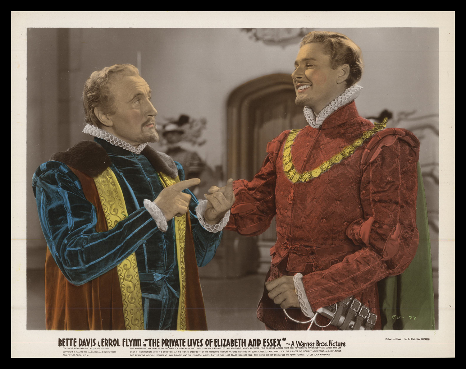 Errol Flynn and Donald Crisp in The Private Lives of Elizabeth and Essex (1939)