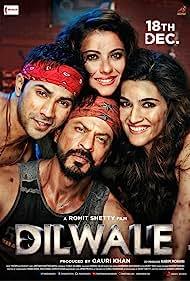 Kajol, Shah Rukh Khan, Varun Dhawan, and Kriti Sanon in Dilwale (2015)