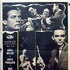 Mark Miller and Anita Thallaug in Blondin i fara (1957)