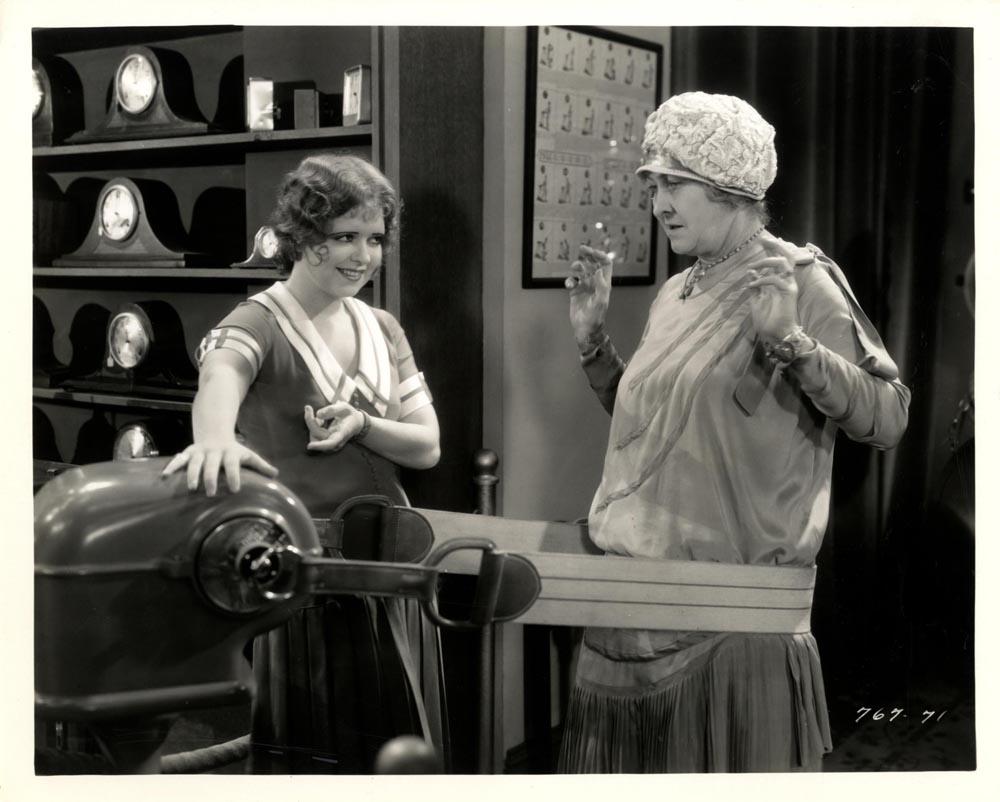 Clara Bow and Mary Gordon in The Saturday Night Kid (1929)