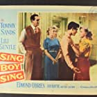 Lili Gentle, Diane Jergens, Edmond O'Brien, Jerry Paris, and Tommy Sands in Sing Boy Sing (1958)