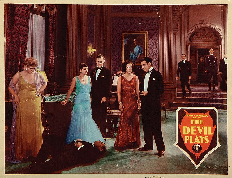 Florence Britton, Edmund Burns, Dorothy Christy, Thomas E. Jackson, Murdock MacQuarrie, Lillian Rich, Jameson Thomas, and Richard Tucker in The Devil Plays (1931)