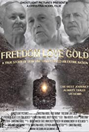 Freedom Love Gold Poster