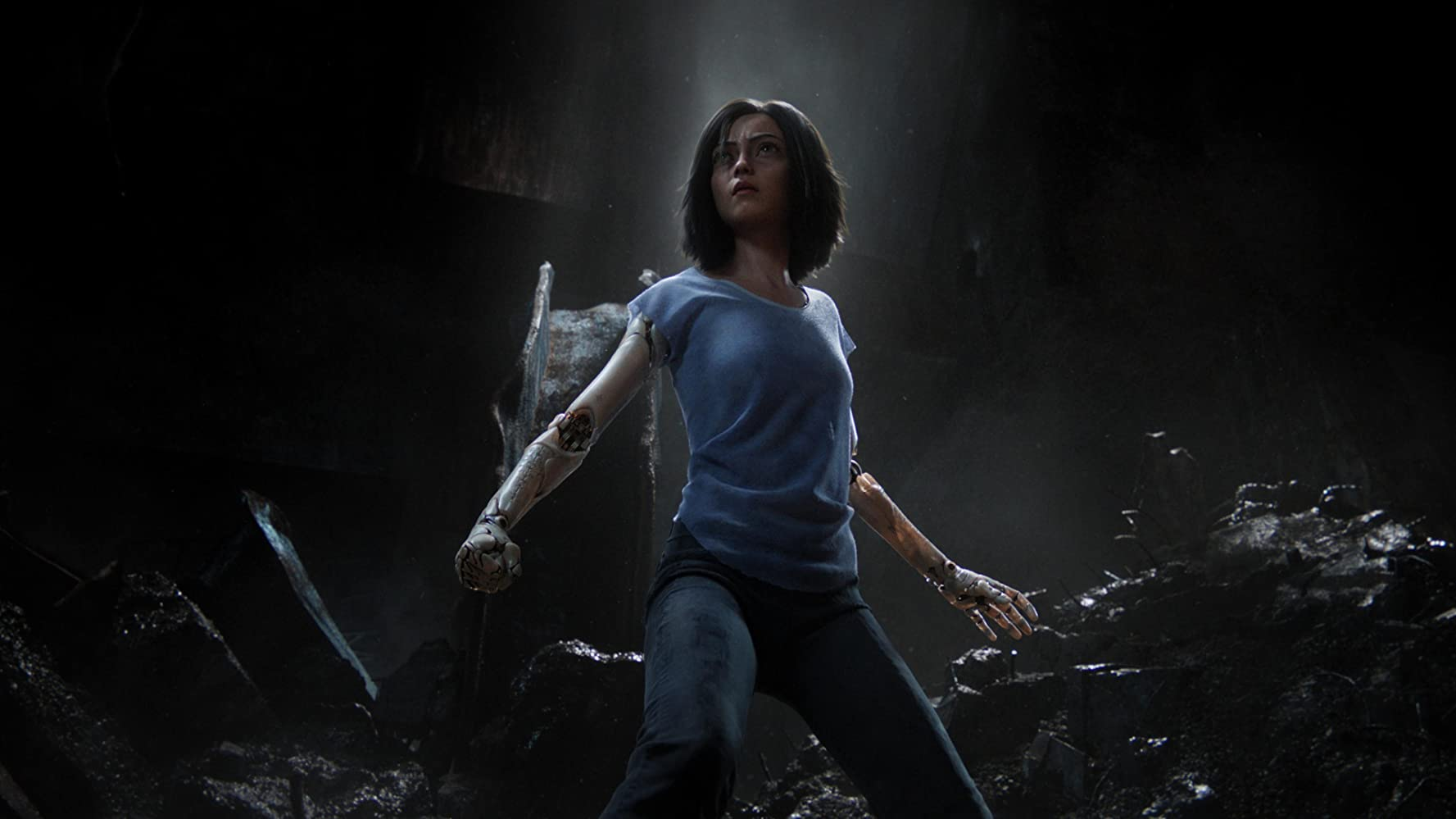 Rosa Salazar in Alita: Battle Angel (2019)