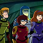 Matthew Lillard, Mindy Cohn, Grey Griffin, and Frank Welker in Scooby-Doo! Moon Monster Madness (2015)