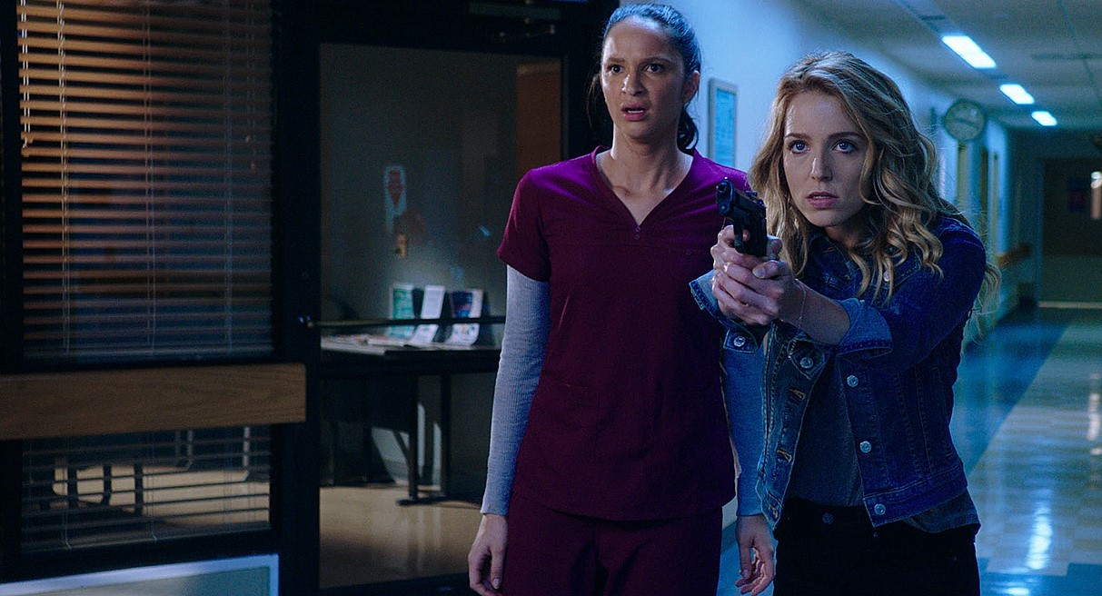Jessica Rothe and Ruby Modine in Happy Death Day 2U (2019)