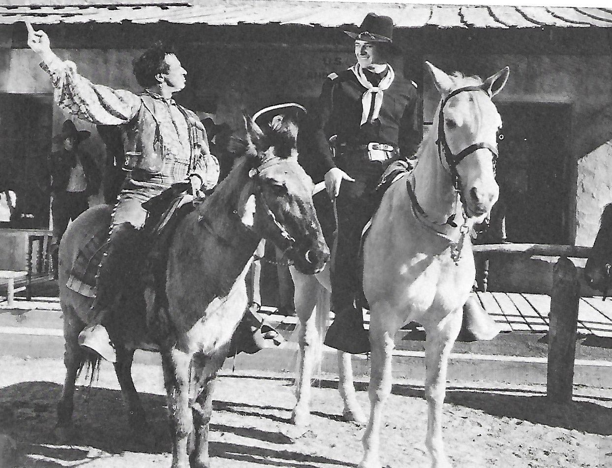 John Wayne, Luis Alberni, and Duke in The Man from Monterey (1933)