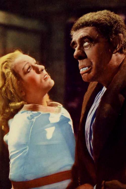 Greta Gynt and Wilfred Walter in The Dark Eyes of London (1939)