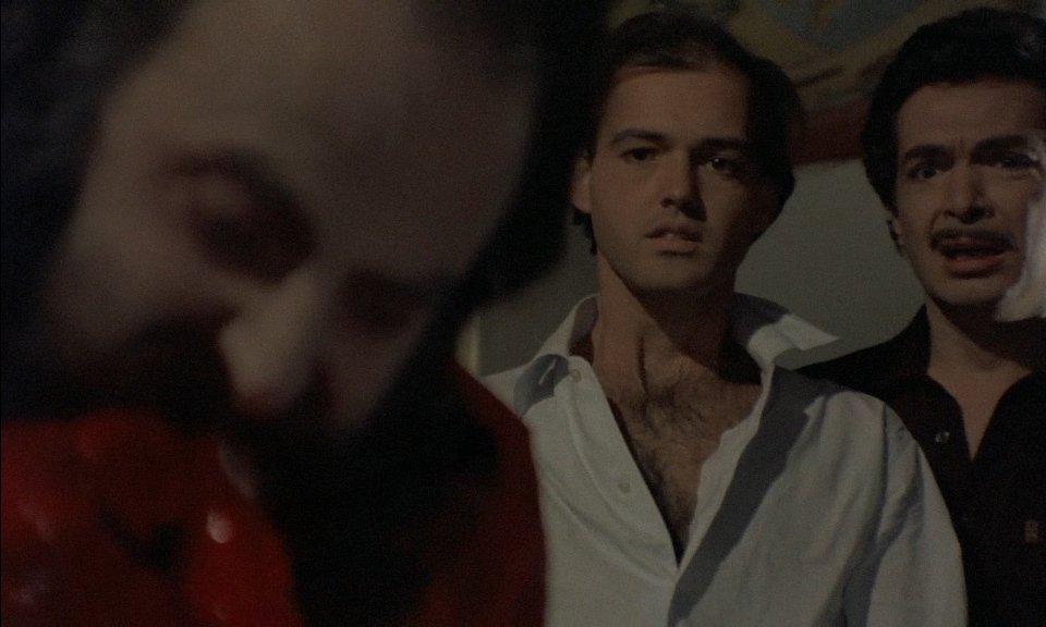 Raimondo Barbieri, Gianluigi Chirizzi, and Simone Mattioli in Le notti del terrore (1981)