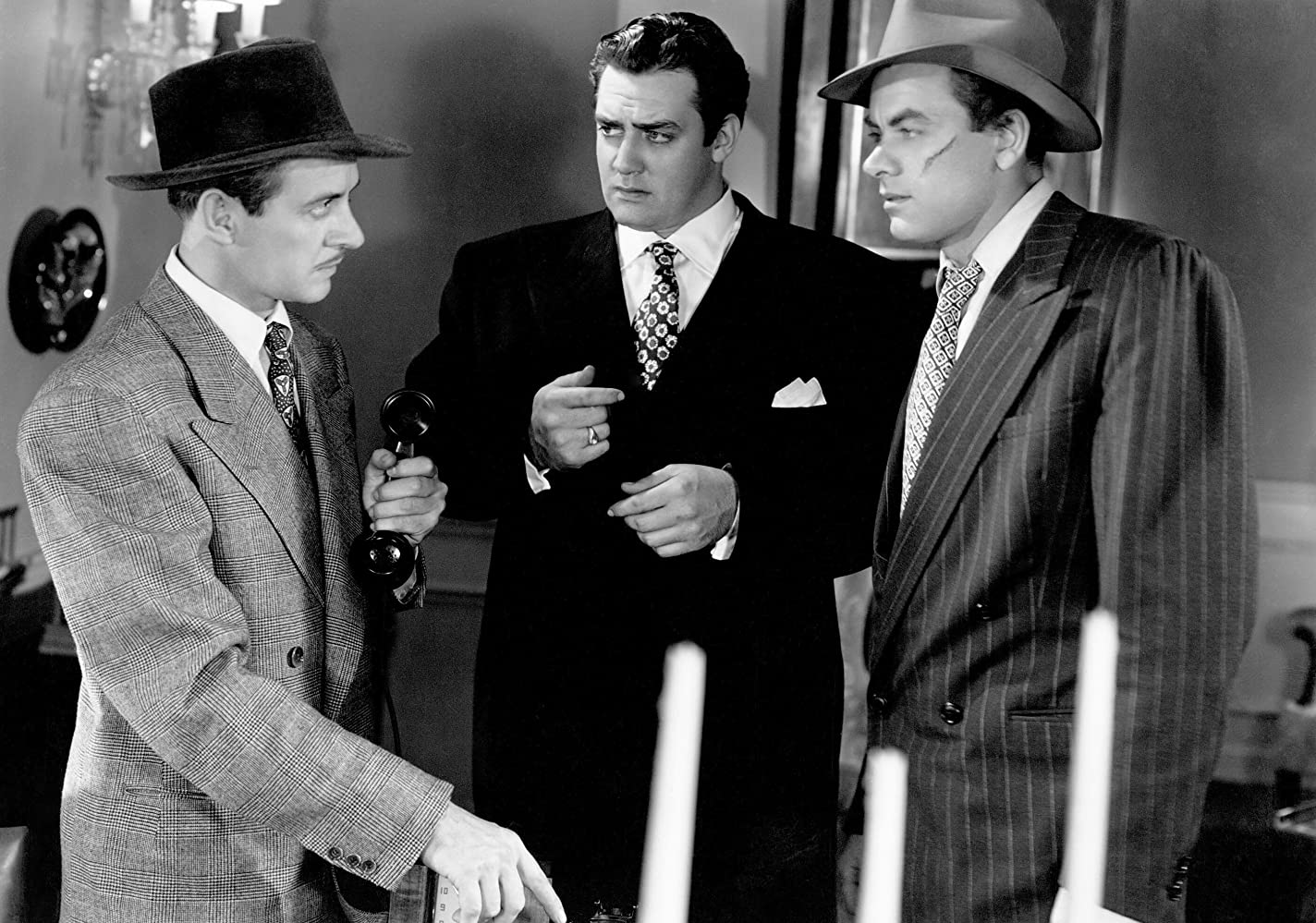 Raymond Burr, Curt Conway, and John Ireland in Raw Deal (1948)