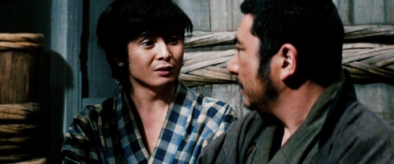 Shintarô Katsu and Osamu Sakai in Zatôichi goyô-tabi (1972)