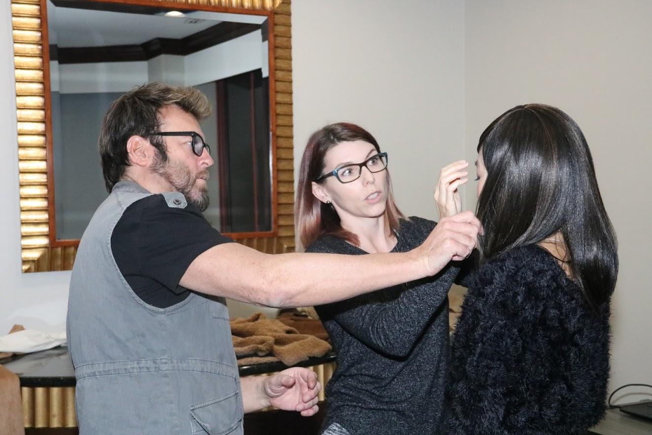 Nico Santucci, Ruby Park, and Claire Gonella in Sarogeto (2021)