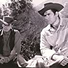 Peter Brown and Clint Walker in Cheyenne (1955)