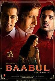 Amitabh Bachchan, Salman Khan, Rani Mukerji, and John Abraham in Baabul (2006)