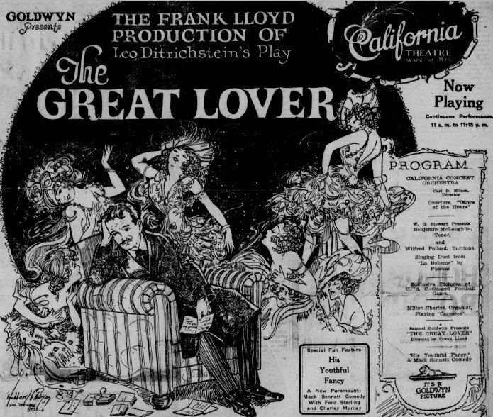 Claire Adams and John St. Polis in The Great Lover (1920)