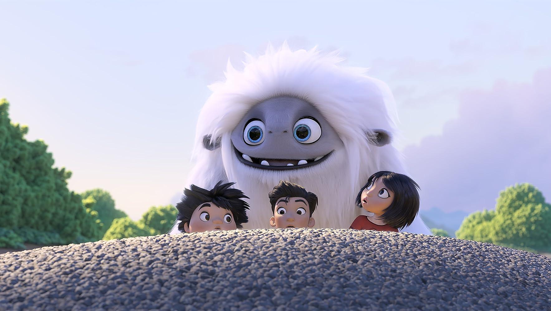 Chloe Bennet, Albert Tsai, and Tenzing Norgay Trainor in Abominable (2019)