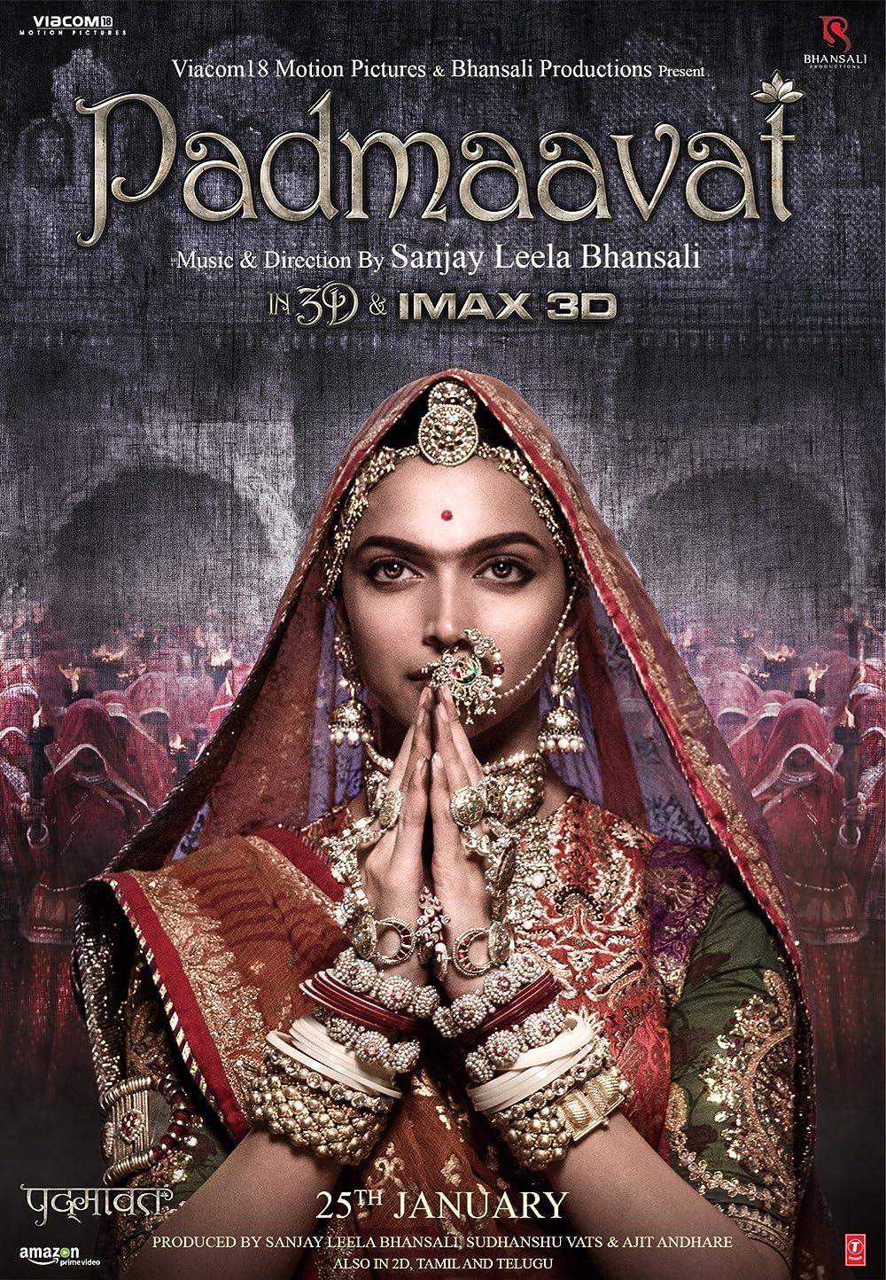 Padmaavat 2018 Hindi Movie 480p BluRay ESub 500MB