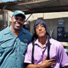 Antonio D. Charity and Andre Royo on the set of HUNTER GATHERER