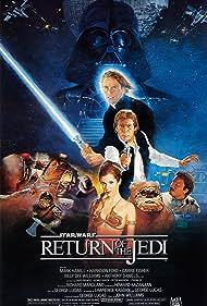 Harrison Ford, Carrie Fisher, Mark Hamill, James Earl Jones, Warwick Davis, David Prowse, Billy Dee Williams, and Michael Carter in Star Wars: Episode VI - Return of the Jedi (1983)