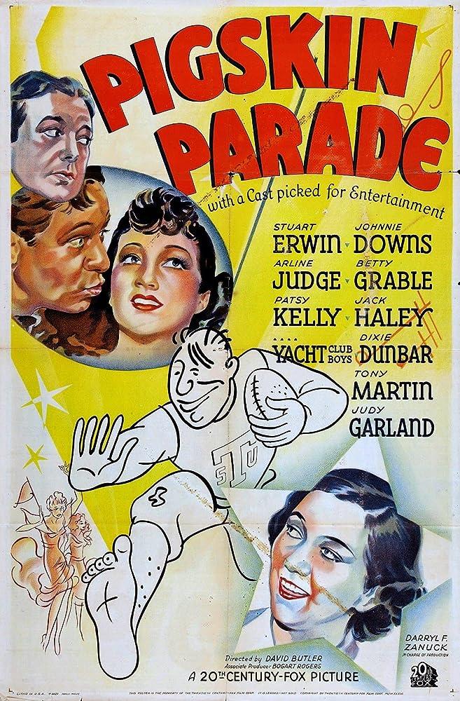 Stuart Erwin, Jack Haley, Arline Judge, and Patsy Kelly in Pigskin Parade (1936)
