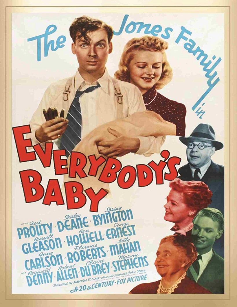 Spring Byington, June Carlson, Shirley Deane, Russell Gleason, Jed Prouty, and Florence Roberts in Everybody's Baby (1939)