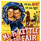 James Best, Oliver Blake, Zachary Charles, Percy Kilbride, Marjorie Main, and Lori Nelson in Ma and Pa Kettle at the Fair (1952)