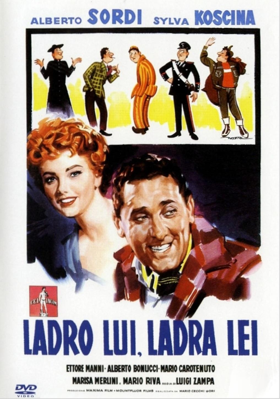 Sylva Koscina and Alberto Sordi in Ladro lui, ladra lei (1958)