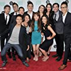 The cast of Everything Before Us at the Los Angeles Asian Pacific Film Festival premieres.