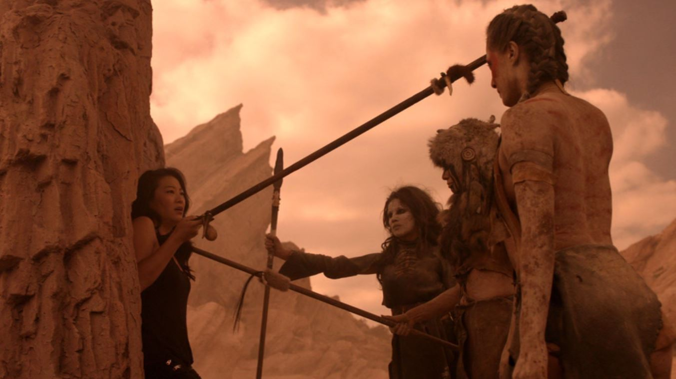 Tonantzin Carmelo, Tiffany Phillips Pradiá, Emily Alabi, and Arden Cho in Teen Wolf (2011)