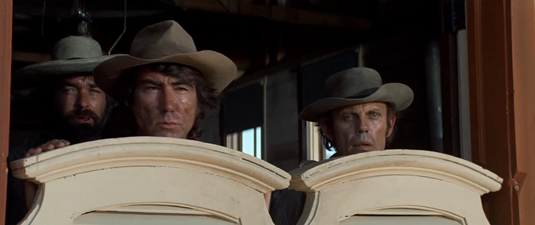 Jim Gosa, Russ McCubbin, and Scott Walker in High Plains Drifter (1973)