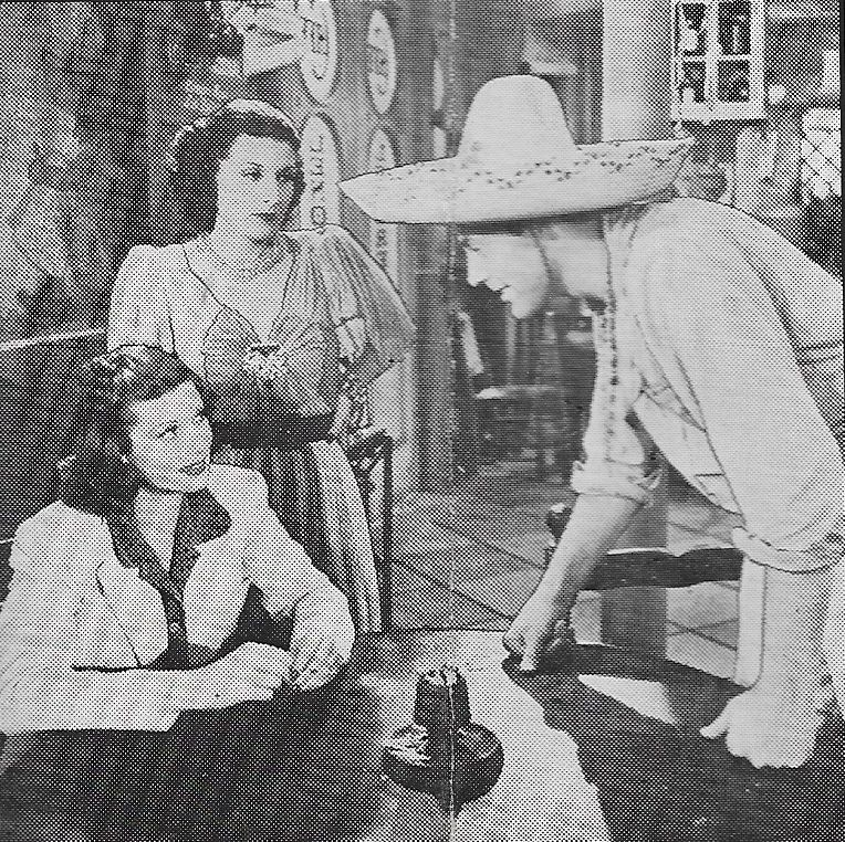 Lucille Ball, Evelyn Brent, and Allan Lane in Panama Lady (1939)
