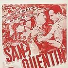 Humphrey Bogart, Pat O'Brien, Joe Sawyer, and Ann Sheridan in San Quentin (1937)