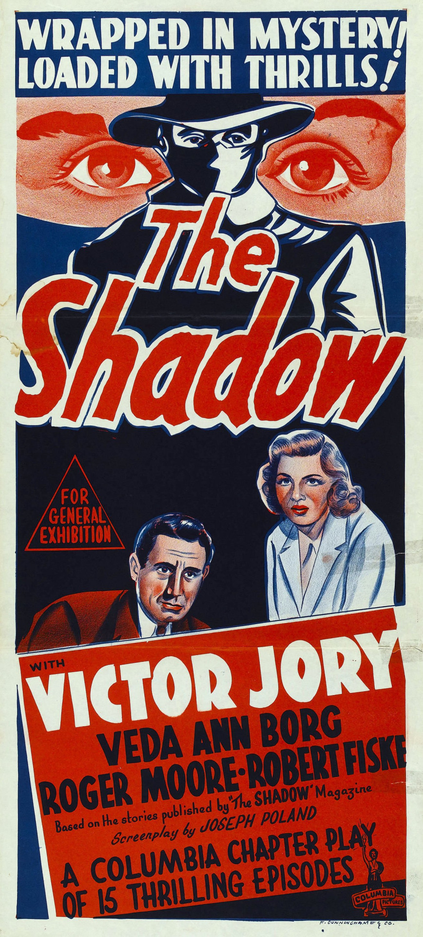 Veda Ann Borg and Victor Jory in The Shadow (1940)