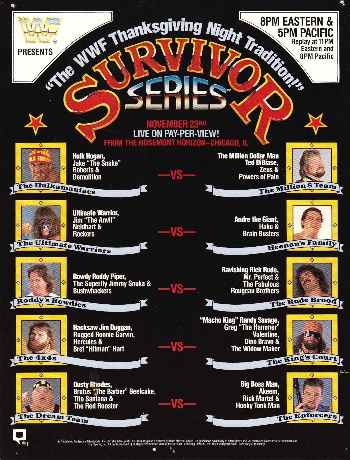 Survivor Series (1989) - IMDb