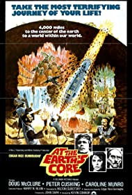 Peter Cushing, Doug McClure, and Caroline Munro in At the Earth's Core (1976)