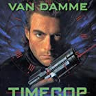 Mia Sara, Jean-Claude Van Damme, Bruce McGill, and Ron Silver in Timecop (1994)