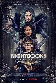 Krysten Ritter, Lidya Jewett, and Winslow Fegley in Nightbooks (2021)