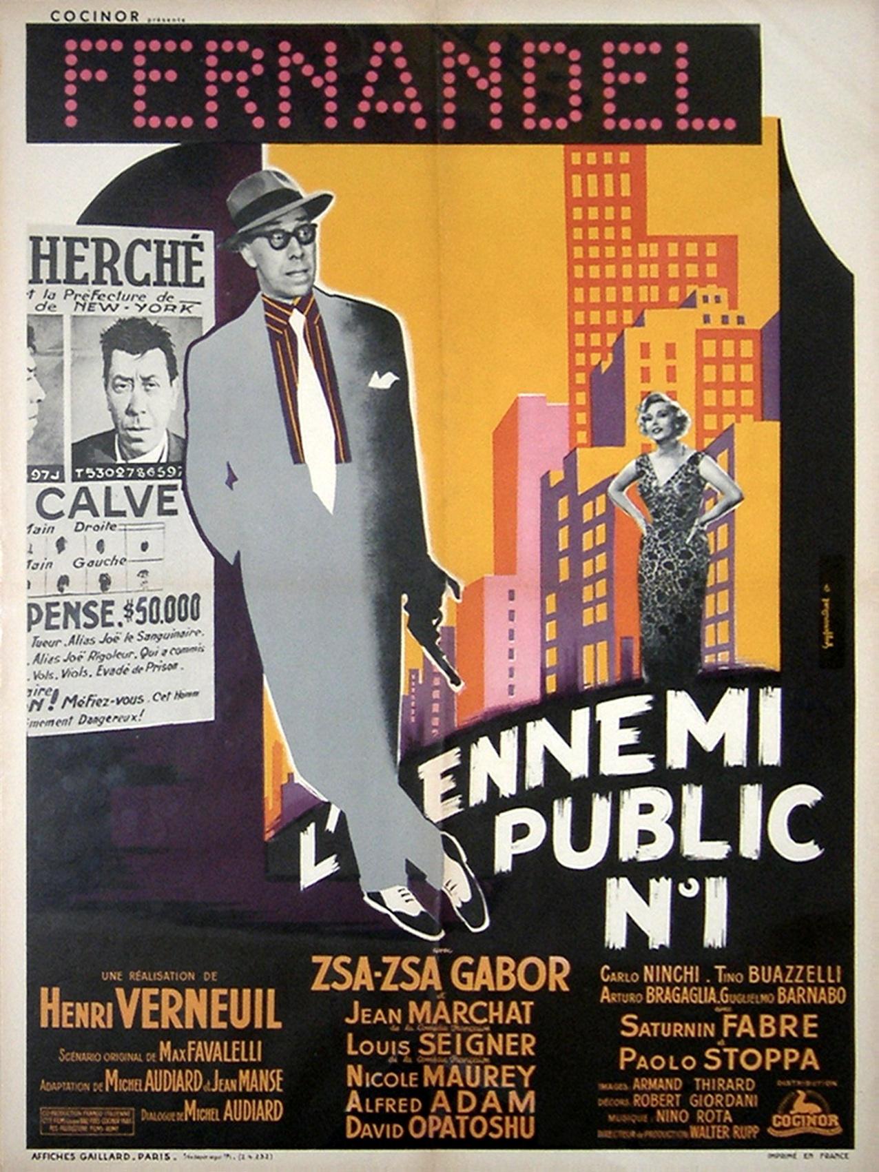 Zsa Zsa Gabor in L'ennemi public n° 1 (1953)